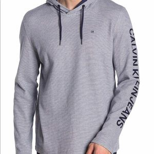 Sleeve logo stripe hoodie